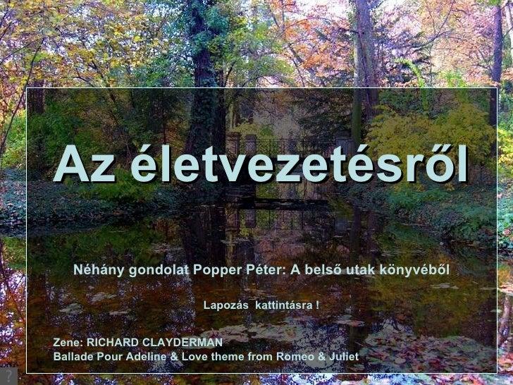 Popper Péter: Belső utak könyve-részletek