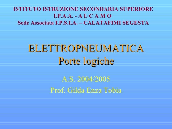 Elettropneumatica porte logiche