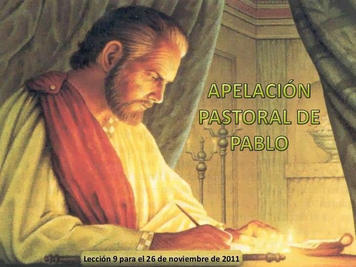 Lección 9 para el 26 de noviembre de 2011