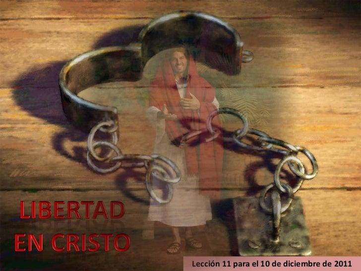 Lección 11 para el 10 de diciembre de 2011