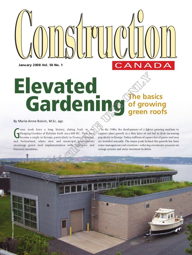 January 2008 Vol. 50 No. 1                         Elevated                         	 Gardening                           ...