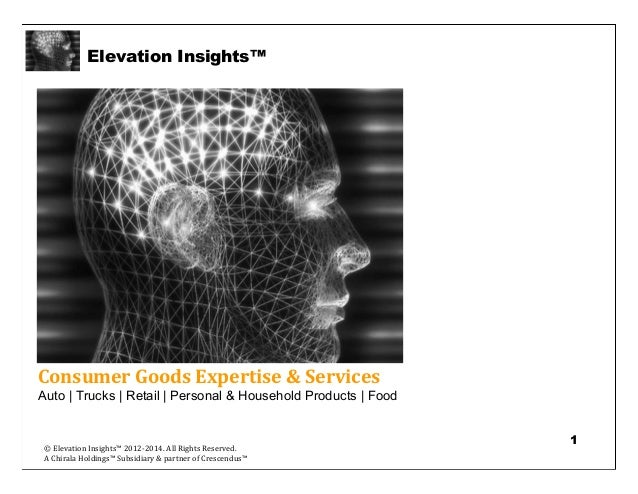 Elevation Insights™   Consumer Goods Intelligence & Insights Services