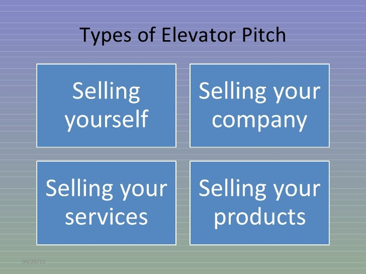 how to make an elevator pitch about yourself