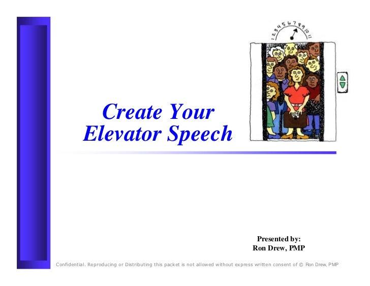 RDrew Elevator Speech