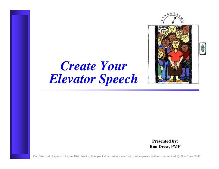 outline for elevator pitch