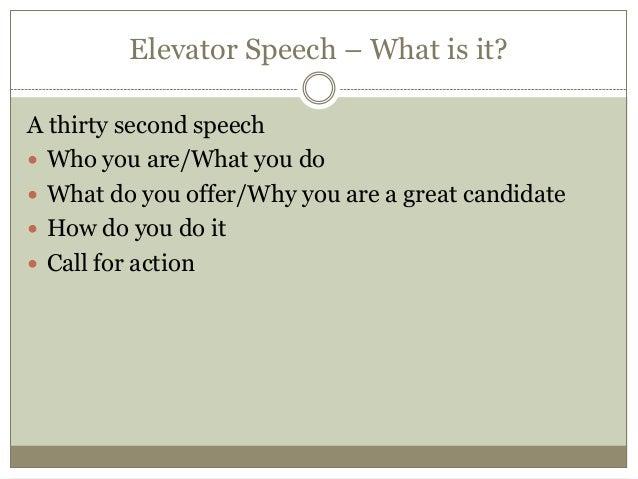 Safe sex elevator speech