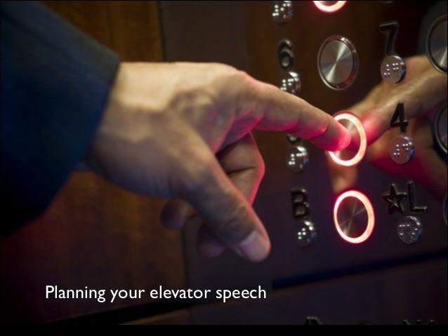 Elevator Speech Planning