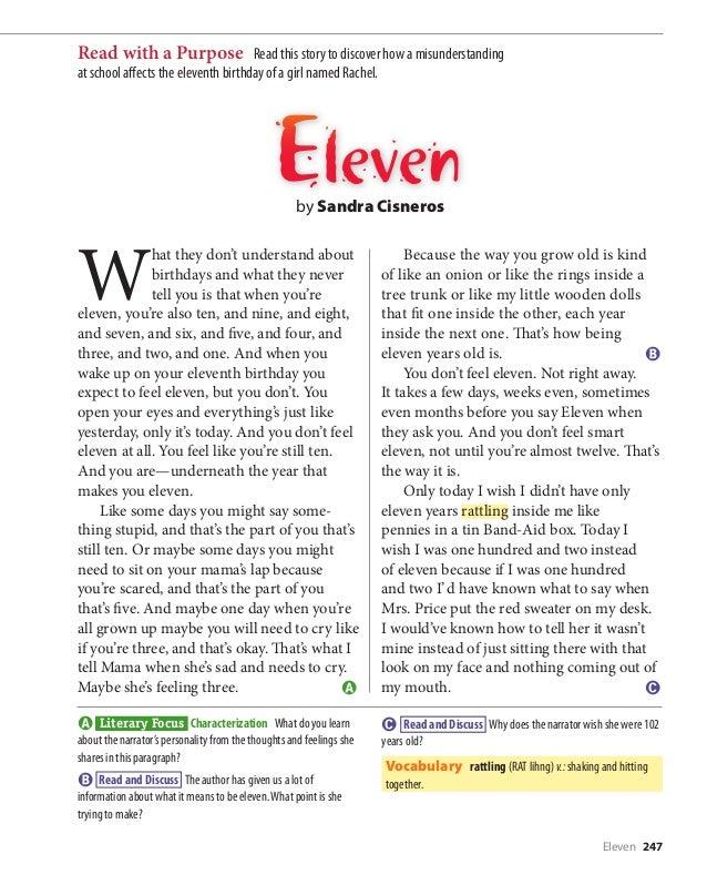 Sandra Cisneros Eleven Ap Essay