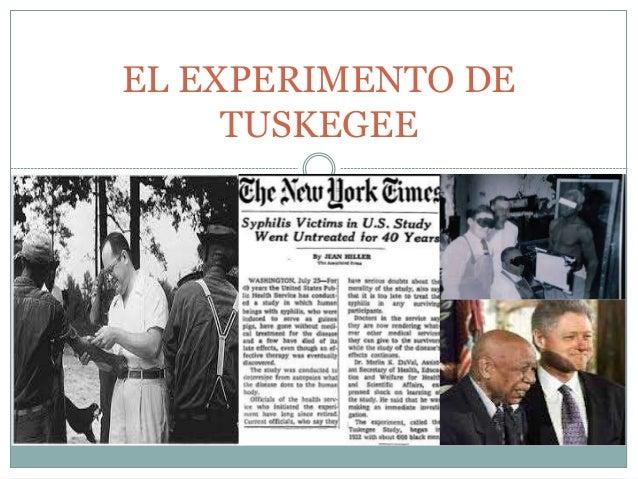 EL EXPERIMENTO DE TUSKEGEE