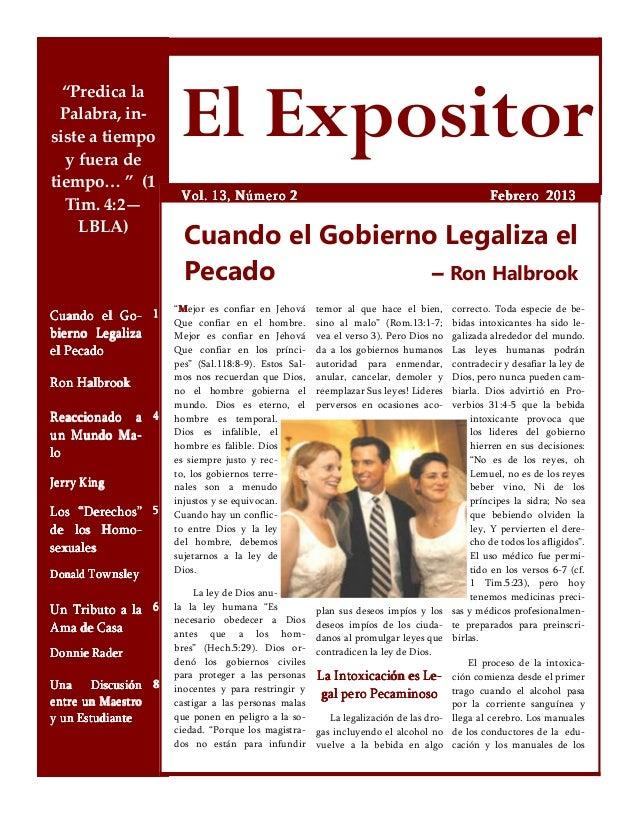 """""""Predica la  Palabra, in-siste a tiempo   y fuera de                       El Expositortiempo… """" (1                       ..."""