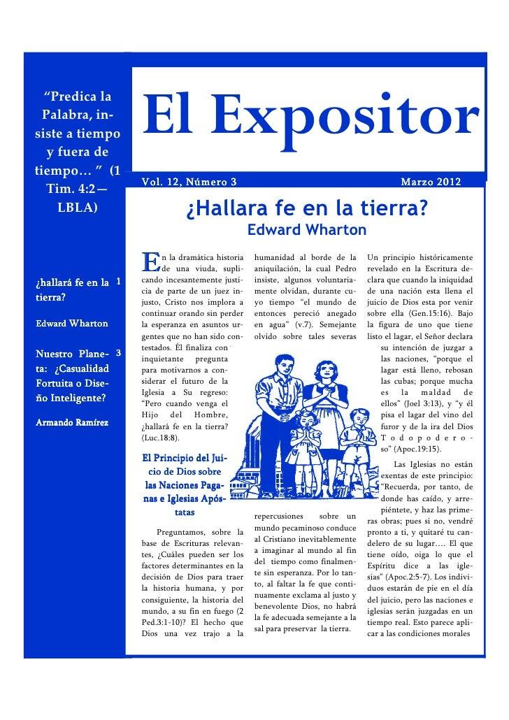 """""""Predica la  Palabra, in-siste a tiempo   y fuera de                      El Expositortiempo… """" (1                      Vo..."""