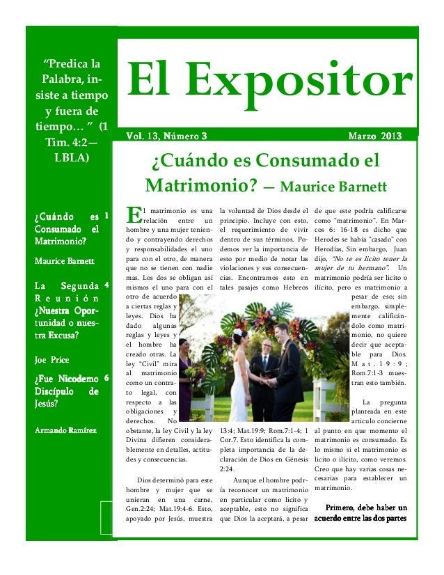 El expositor marzo 2013