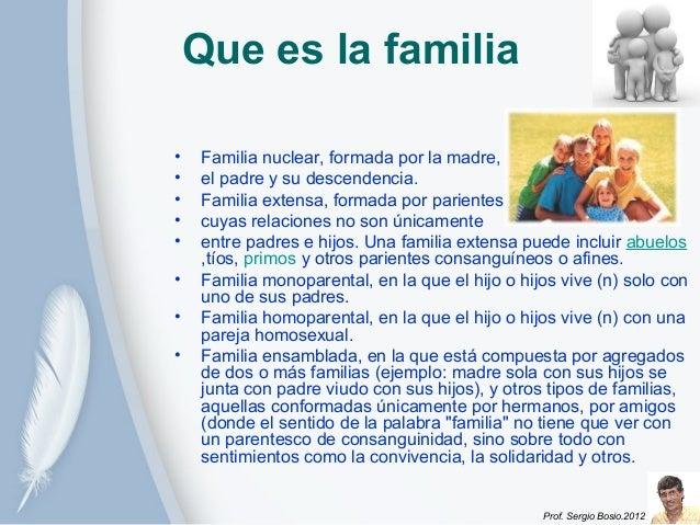 Familia Natural e Extensa Familia Extensa Formada Por