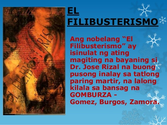 """reaction paper of el filibusterismo essays Life of jose rizal essays: the year he finished his el filibusterismo """"111th anniversary of dr jose p rizal's martyrdom"""" a reaction paper."""