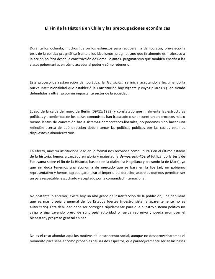 El fin de la historia en Chile