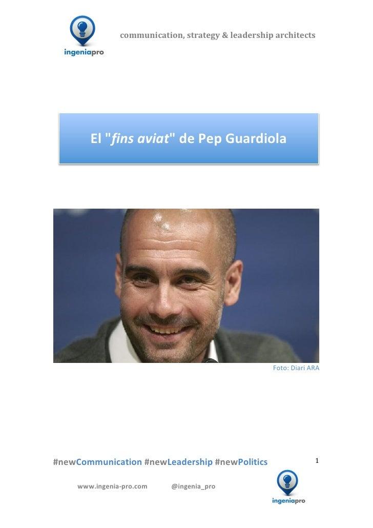 """El  """"fins aviat""""  d'en Pep Guardiola"""