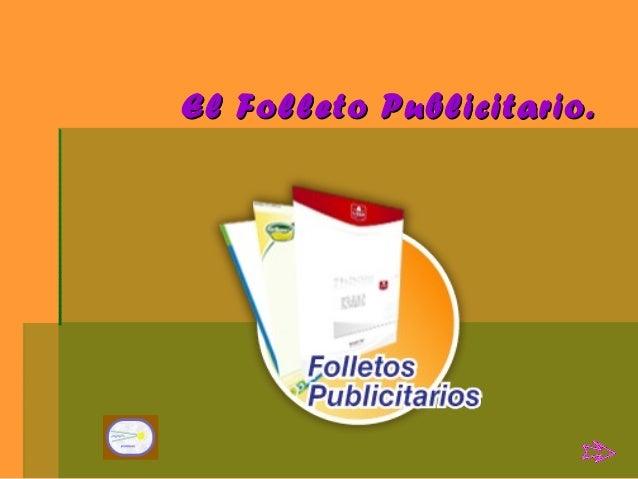 EL FOLLETO PUBLICITARIO