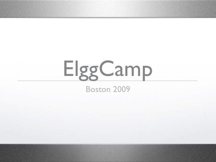 Elggcamp Welcome