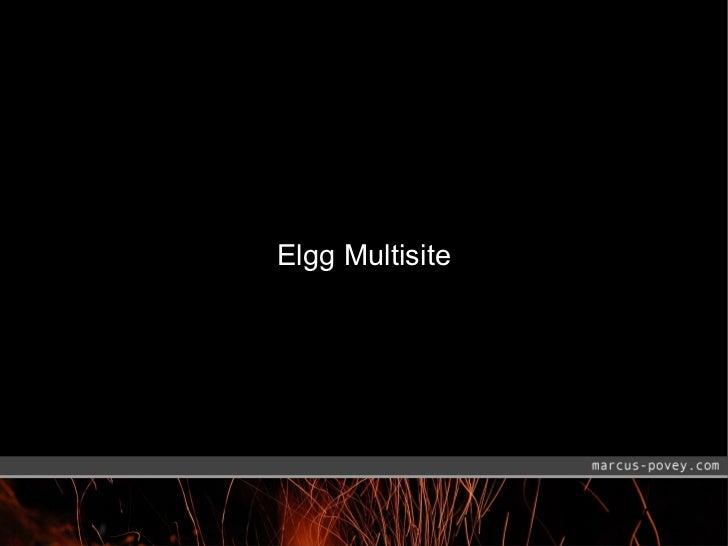 Elgg Multisite