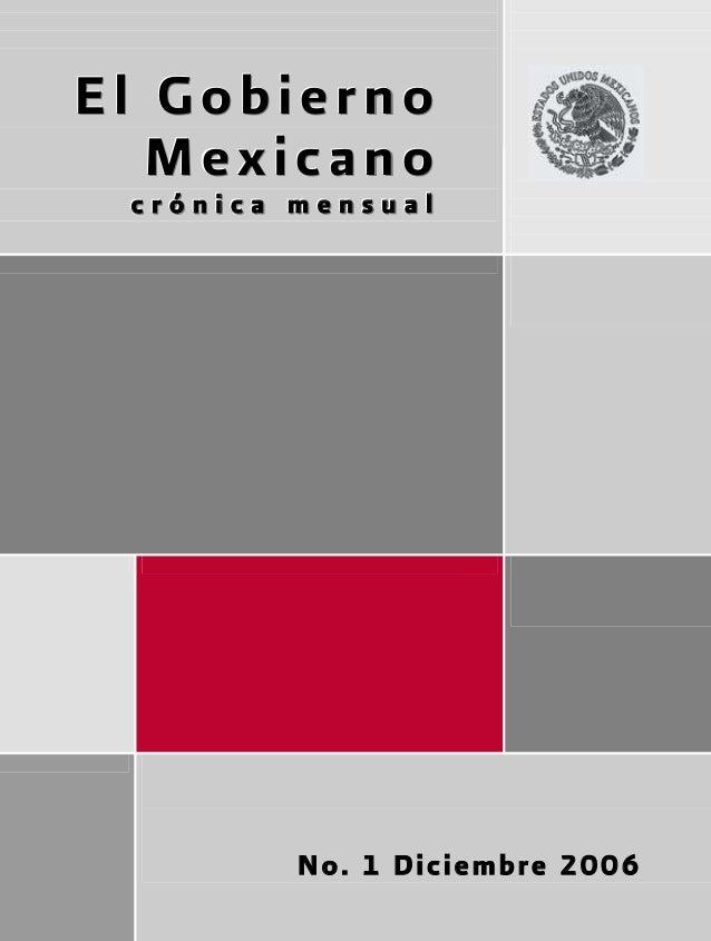 El Gobierno                 Mexicano                       crónica mensual                                                ...