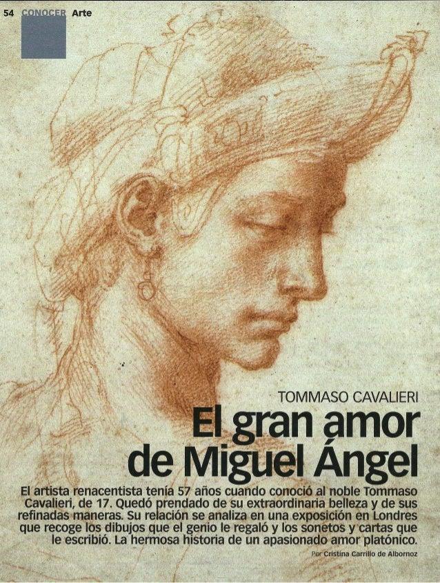Conocer de Arte: El gran amor de miguel angel