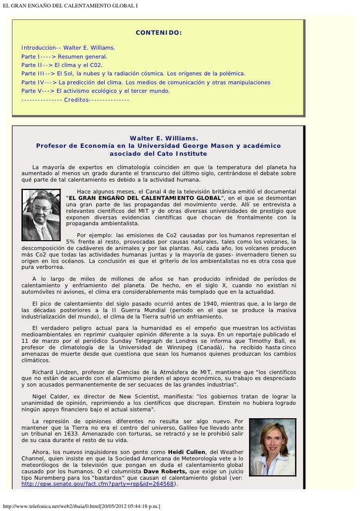 EL GRAN ENGAÑO DEL CALENTAMIENTO GLOBAL I                                                          CONTENIDO:        Intro...