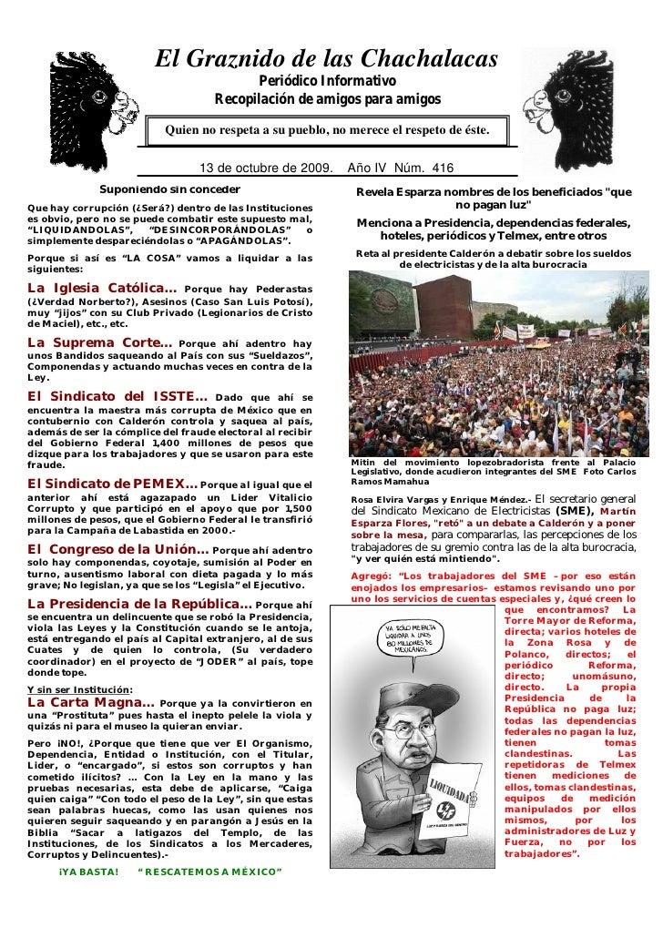 El Graznido de las Chachalacas                                            Periódico Informativo                           ...