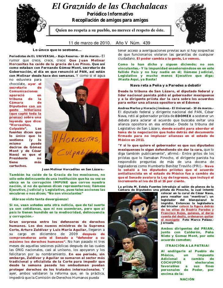 El Graznido de las Chachalacas                               0                                                 Periódico I...