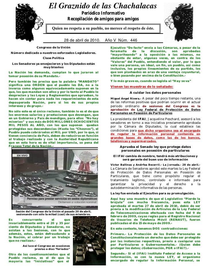 El Graznido de las Chachalacas                             0                                                 Periódico Inf...