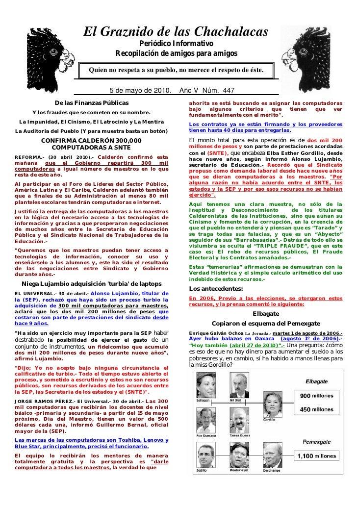 El Graznido de las Chachalacas                           0                                            Periódico Informativ...