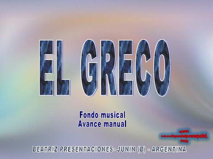 BEATRIZ PRESENTACIONES- JUNIN (B) - ARGENTINA EL GRECO Fondo musical Avance manual