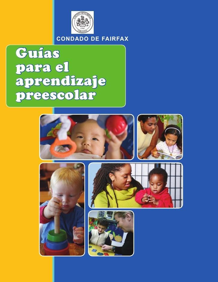 CONDADO DE FAIRFAXGuíaspara elaprendizajepreescolar