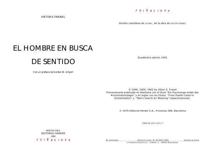 VIKTOR E. FRANKL                                                      Versión castellana de   DIORKI,   de la obra de   VI...