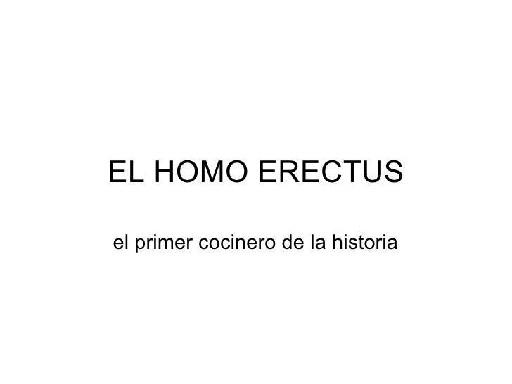 EL HOMO ERECTUS el primer cocinero de la historia