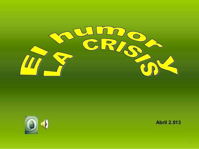 El humor y la crisis