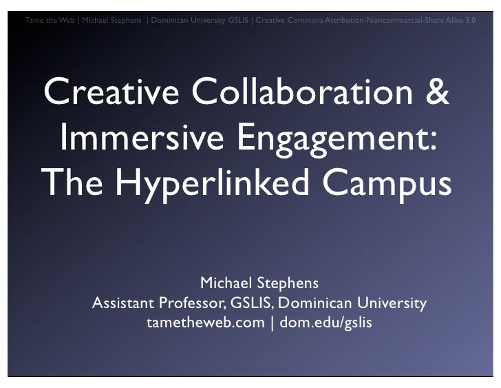 The Hyperlinked Campus