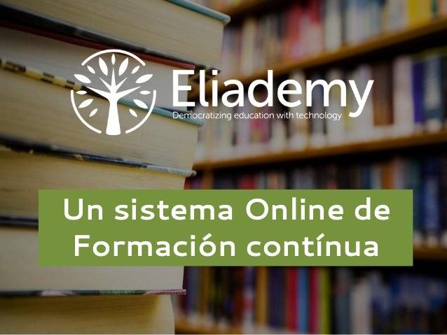 Formación Online para Empresas con Eliademy