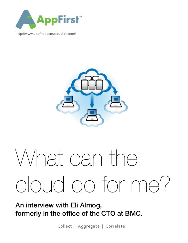 http://www.appfirst.com/cloud-­‐channel	  	  	  	  	  What can thecloud do for me?An interview with Eli Almog...