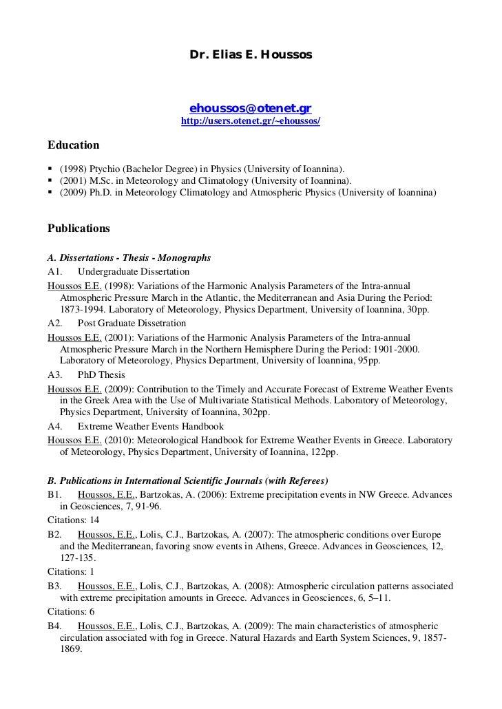 Dr. Elias E. Houssos                                   ehoussos@otenet.gr                                 http://users.ote...