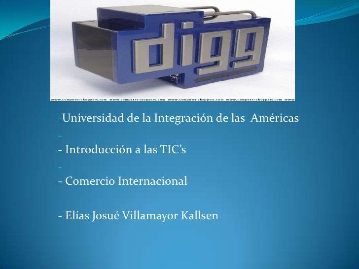 -Universidad de la Integración de las Américas-- Introducción a las TIC's-- Comercio Internacional- Elías Josué Villamayor...
