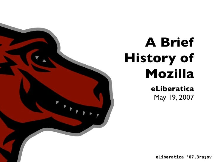 """The Past Present and Future of the Mozilla Foundation"" by Zak Greant @ eLiberatica 2007"