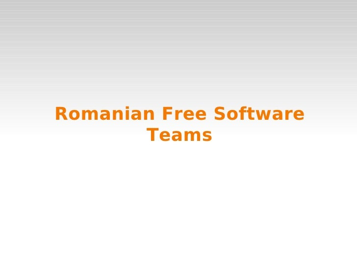 """""""Introducing Romanian Free Software Teams"""" by Ro FS @ eLiberatica 2009"""