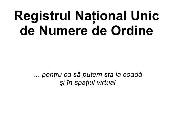 """National Unique Queue Register can fight against corruption"" by Teo Constantin Teodorescu @ eLiberatica 2009"