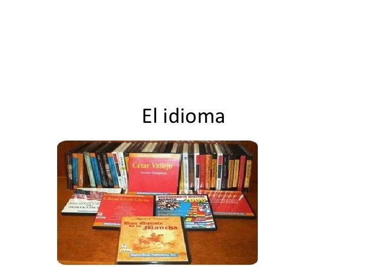 El idioma