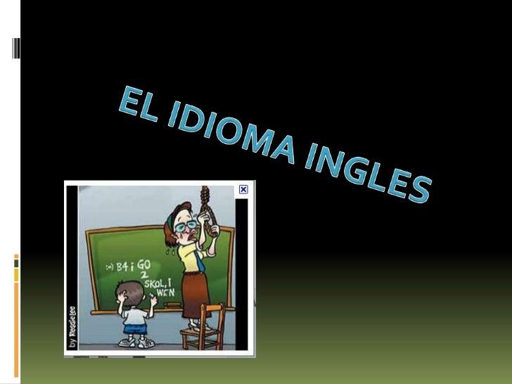 El idioma ingles