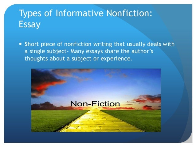 essays on - fiction Some broad topics for critical essays on fiction the basic elements of fictional depictions are characters, settings, and events (plot) a plot summary or summary account of a character is.