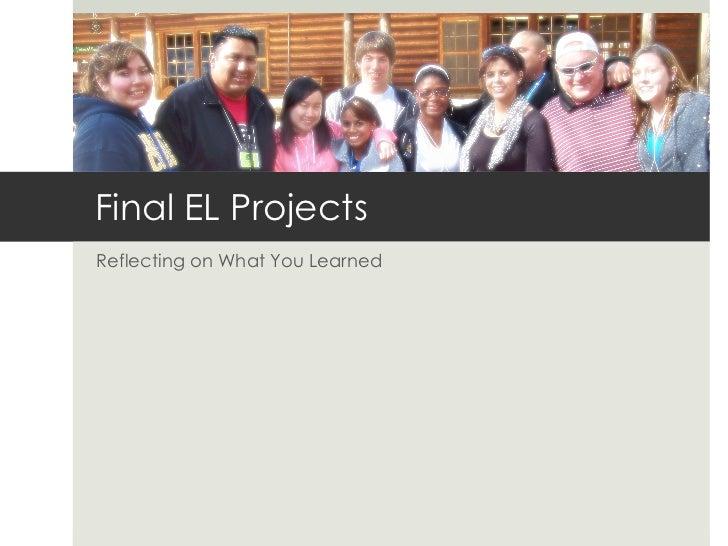 El i f11 final projects presentation