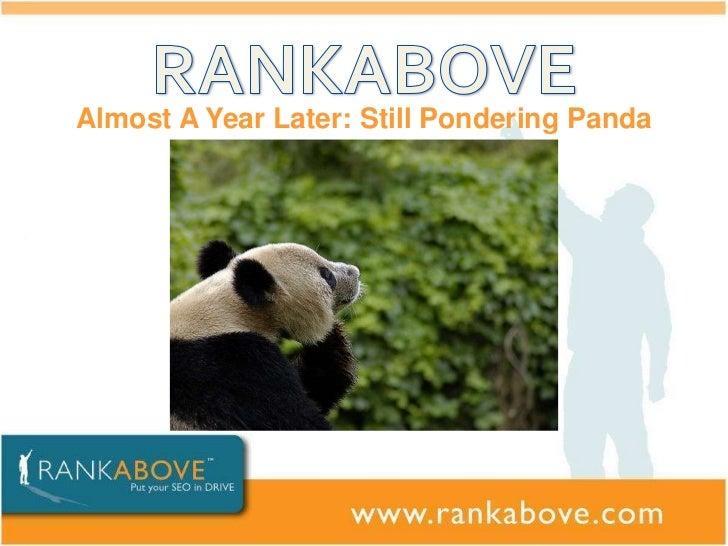 Eli feldblum panda presentation