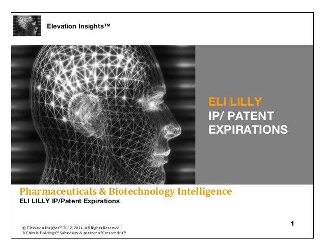 Elevation Insights™ | Eli Lilly IP/Patent Expirations