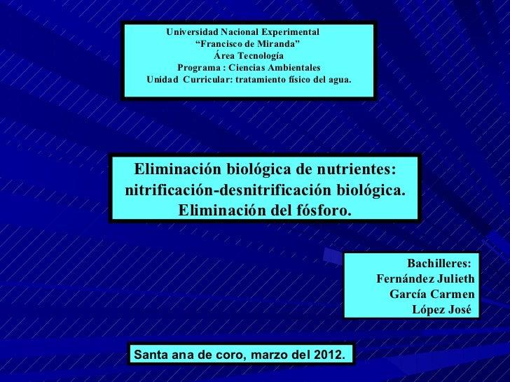 """Universidad Nacional Experimental             """"Francisco de Miranda""""                 Área Tecnología         Programa : Ci..."""
